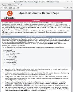 Successful Apache install