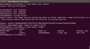docker pull and images