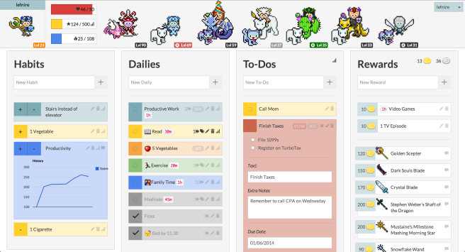 Creating a to-do list in Habitica